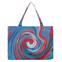 Red And Blue Rounds Zipper Medium Tote Bag by berwies