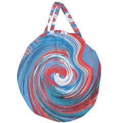 Red And Blue Rounds Giant Round Zipper Tote