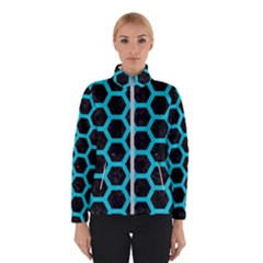 HEXAGON2 BLACK MARBLE & TURQUOISE COLORED PENCIL (R) Winterwear
