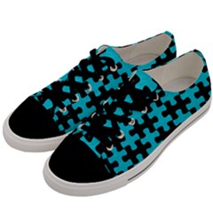 Puzzle1 Black Marble & Turquoise Colored Pencil Men s Low Top Canvas Sneakers by trendistuff