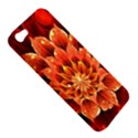 Beautiful Ruby Red Dahlia Fractal Lotus Flower Apple iPhone 5 Hardshell Case View5