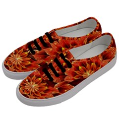 Beautiful Ruby Red Dahlia Fractal Lotus Flower Men s Classic Low Top Sneakers by jayaprime