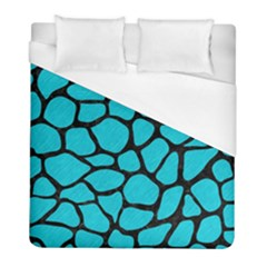 Skin1 Black Marble & Turquoise Colored Pencil (r) Duvet Cover (full/ Double Size) by trendistuff