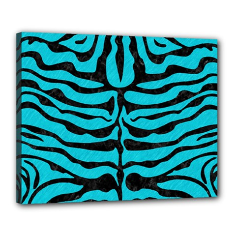 Skin2 Black Marble & Turquoise Colored Pencil Canvas 20  X 16  by trendistuff