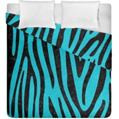 Skin4 Black Marble & Turquoise Colored Pencil (r) Duvet Cover Double Side (king Size) by trendistuff