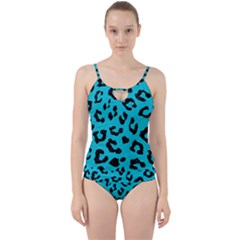Skin5 Black Marble & Turquoise Colored Pencil (r) Cut Out Top Tankini Set by trendistuff