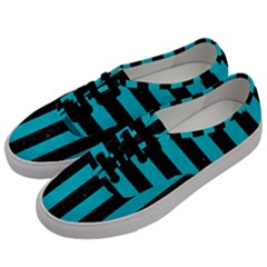 Stripes1 Black Marble & Turquoise Colored Pencil Men s Classic Low Top Sneakers by trendistuff