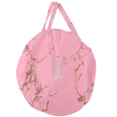 Luxurious Pink Marble Giant Round Zipper Tote by tarastyle