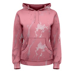Luxurious Pink Marble Women s Pullover Hoodie by tarastyle