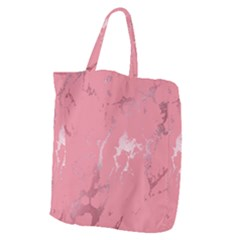 Luxurious Pink Marble Giant Grocery Zipper Tote