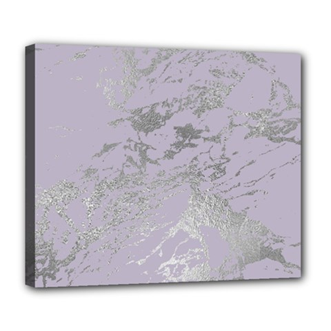 Luxurious Pink Marble Deluxe Canvas 24  X 20   by tarastyle