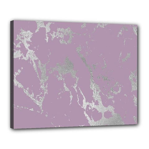Luxurious Pink Marble Canvas 20  X 16  by tarastyle