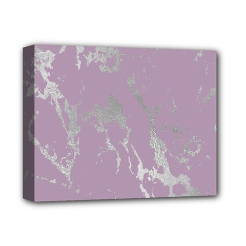 Luxurious Pink Marble Deluxe Canvas 14  X 11  by tarastyle