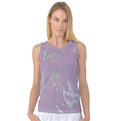 Luxurious Pink Marble Women s Basketball Tank Top