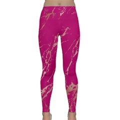 Luxurious Pink Marble Classic Yoga Leggings