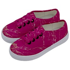 Luxurious Pink Marble Kids  Classic Low Top Sneakers by tarastyle