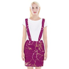 Luxurious Pink Marble Braces Suspender Skirt
