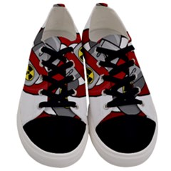 No Nuclear Weapons Men s Low Top Canvas Sneakers