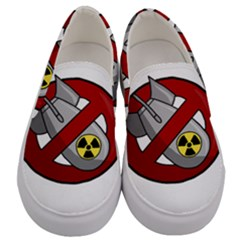 No Nuclear Weapons Men s Canvas Slip Ons