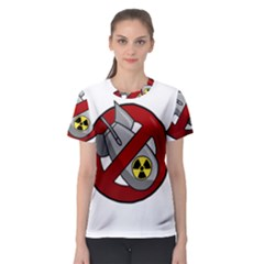 No Nuclear Weapons Women s Sport Mesh Tee