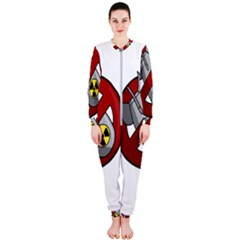 No Nuclear Weapons Onepiece Jumpsuit (ladies)