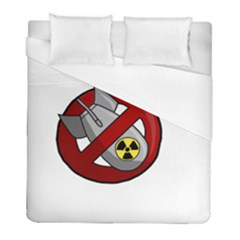 No Nuclear Weapons Duvet Cover (full/ Double Size) by Valentinaart