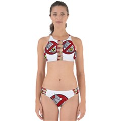 No Nuclear Weapons Perfectly Cut Out Bikini Set