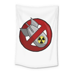 No Nuclear Weapons Small Tapestry by Valentinaart
