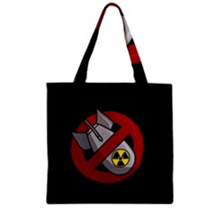 No Nuclear Weapons Zipper Grocery Tote Bag