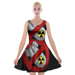 No Nuclear Weapons Velvet Skater Dress