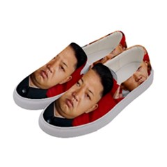Kim Jong Un Women s Canvas Slip Ons by Valentinaart
