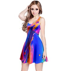 Abstract Acryl Art Reversible Sleeveless Dress by tarastyle