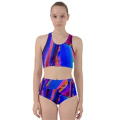 Abstract Acryl Art Racer Back Bikini Set by tarastyle