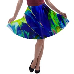Abstract Acryl Art A Line Skater Skirt by tarastyle