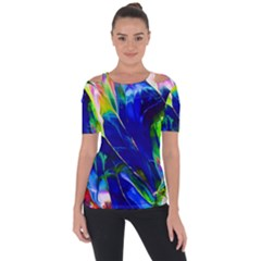 Abstract Acryl Art Short Sleeve Top by tarastyle