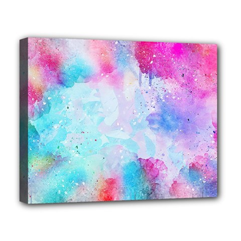 Pink And Purple Galaxy Watercolor Background  Deluxe Canvas 20  X 16   by paulaoliveiradesign