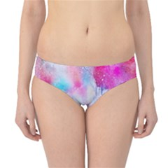 Pink And Purple Galaxy Watercolor Background  Hipster Bikini Bottoms by paulaoliveiradesign