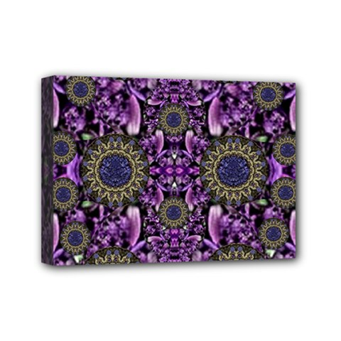 Flowers From Paradise In Fantasy Elegante Mini Canvas 7  X 5
