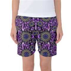 Flowers From Paradise In Fantasy Elegante Women s Basketball Shorts by pepitasart