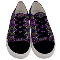 Flowers From Paradise In Fantasy Elegante Men s Low Top Canvas Sneakers