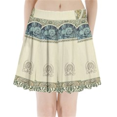 Art Nouveau Pleated Mini Skirt