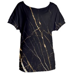 Black Marble Women s Oversized Tee by 8fugoso