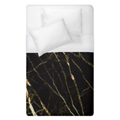 Black Marble Duvet Cover (single Size) by 8fugoso