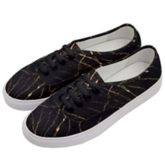 Black Marble Women s Classic Low Top Sneakers by 8fugoso