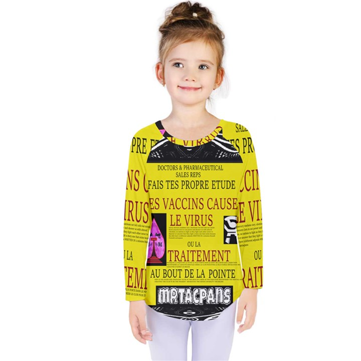 Ronald Story Vaccine Mrtacpans Kids  Long Sleeve Tee