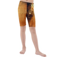 The Funny, Speed Giraffe Kids  Mid Length Swim Shorts by FantasyWorld7
