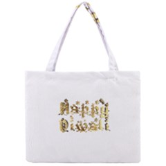 Happy Diwali Gold Golden Stars Star Festival Of Lights Deepavali Typography Mini Tote Bag by yoursparklingshop