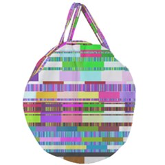 Error Giant Round Zipper Tote