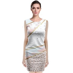 Collage,white Marble,gold,silver,black,white,hand Drawn, Modern,trendy,contemporary,pattern Classic Sleeveless Midi Dress by 8fugoso