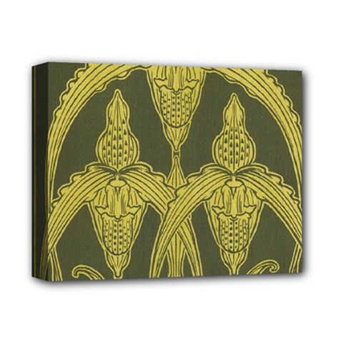 Art Nouveau Green Deluxe Canvas 14  X 11  by 8fugoso